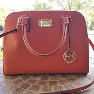 Burnt orange Michael kors handbag